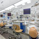 High-tech workstations in dental classroom